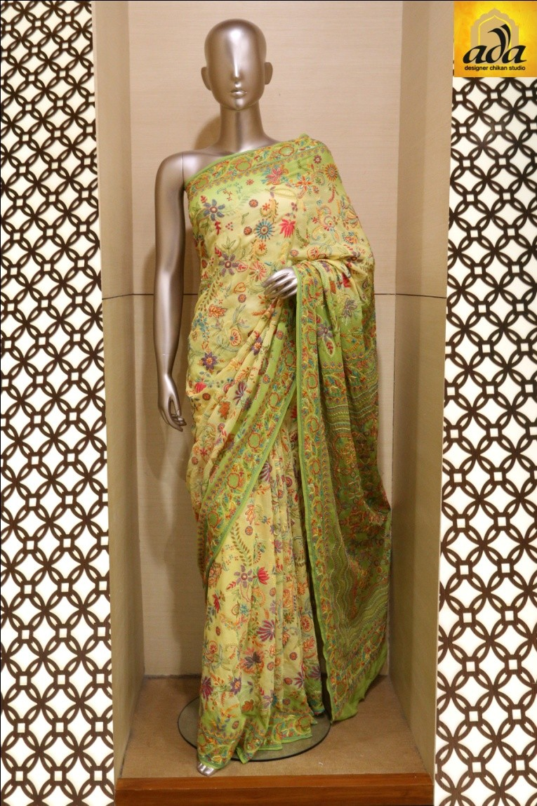 The Traditional Chikan Saree