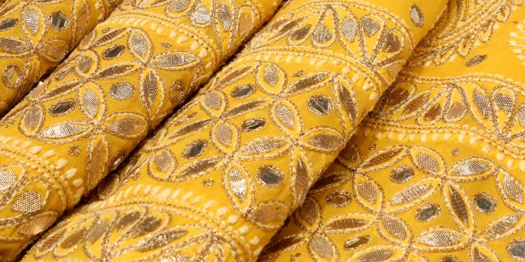 Handmade Chikankari Gota Patti Kurti Ethnic Wear Lucknowi Chikan Kurta Palazzo