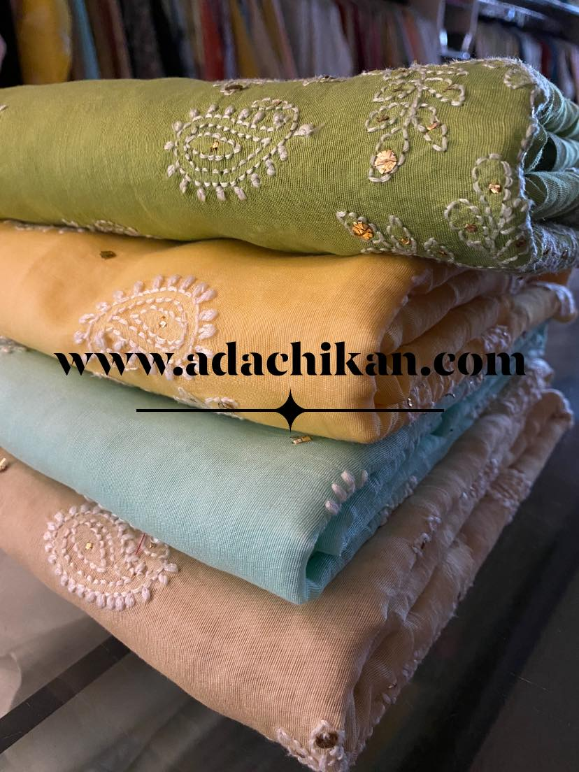 This image showcases the craft of Lucknow Authentic Chikan Embroidery needle crafted in Lucknow.